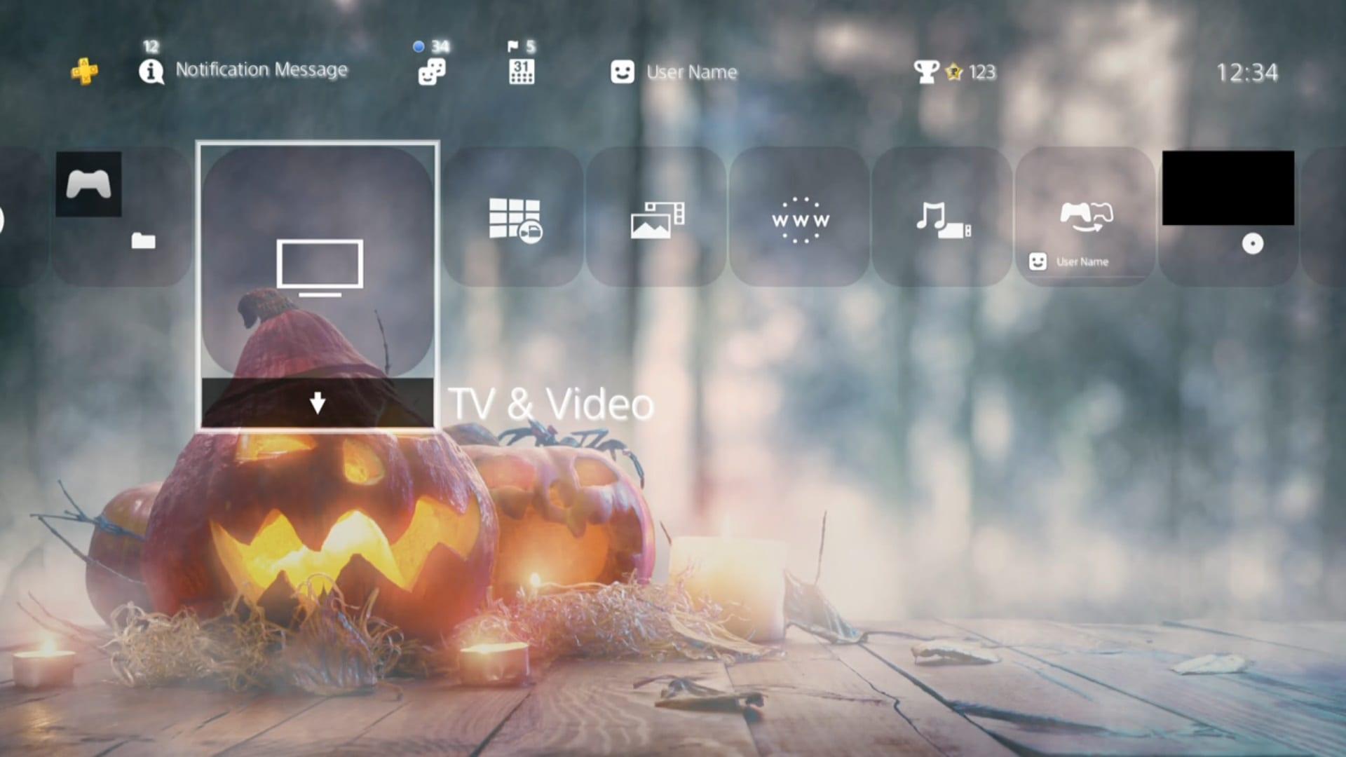 halloween, pumpking, ps4 themes