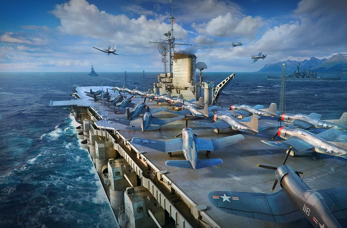 world of warships, midway
