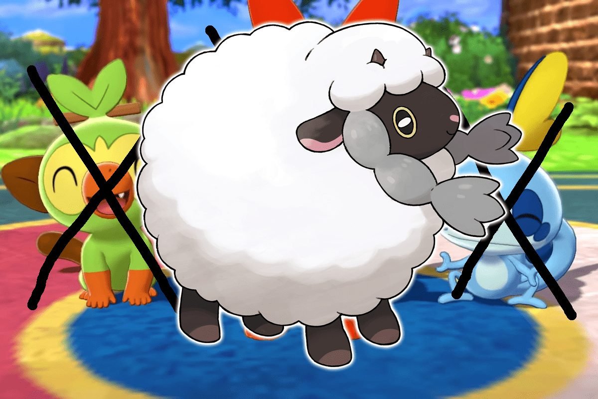 pokemon sword and shield player beats game with a single Wooloo