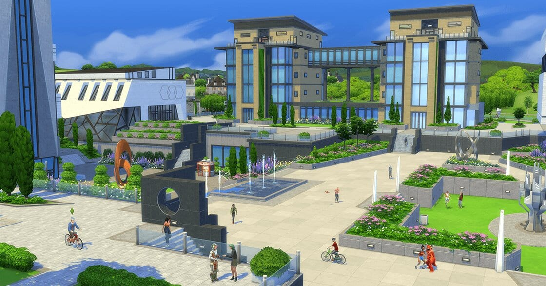 sims 4, discover university, bike