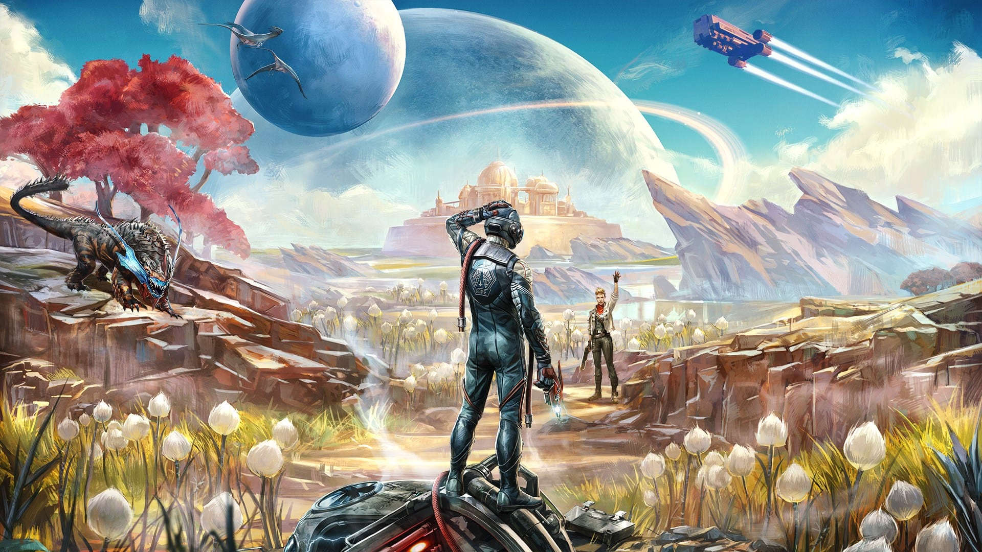 outer worlds, canid's cradle, targeting module, graham, sanjar