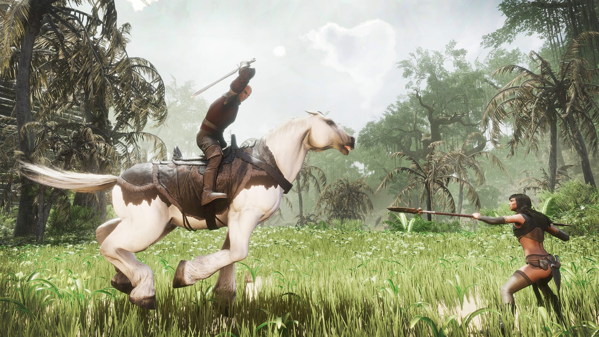 conan exiles, mounts, mounted combat, ryders of hyboria