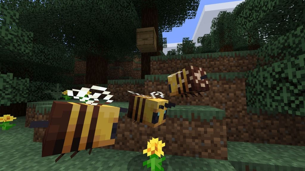 Minecraft Bees, how to get honey Minecraft, honeycomb minecraft