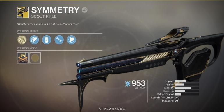 destiny 2, symmetry catalyst