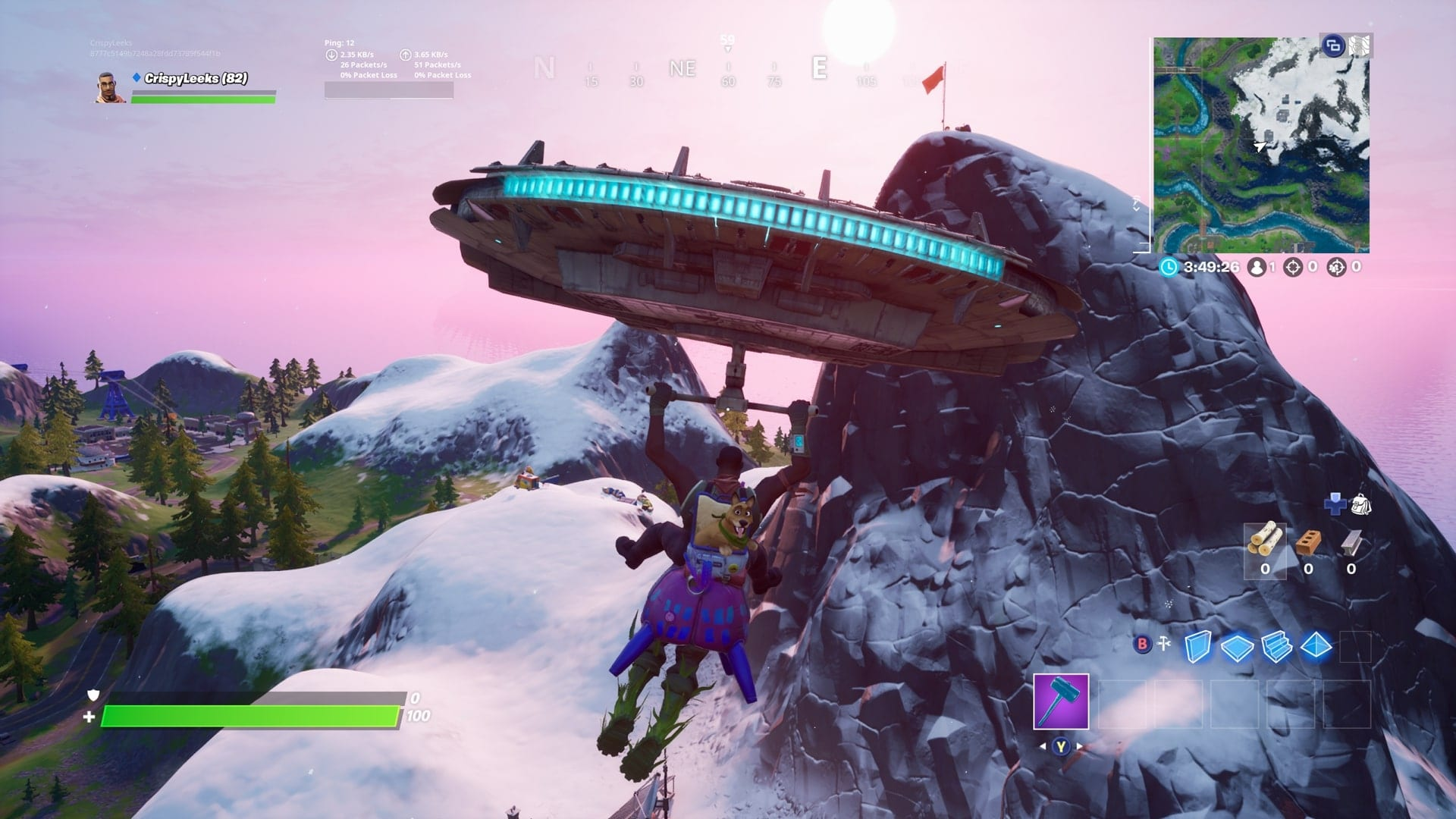 Fortnite: Dance at Mount H7, Mount F8 & Mount Kay Locations