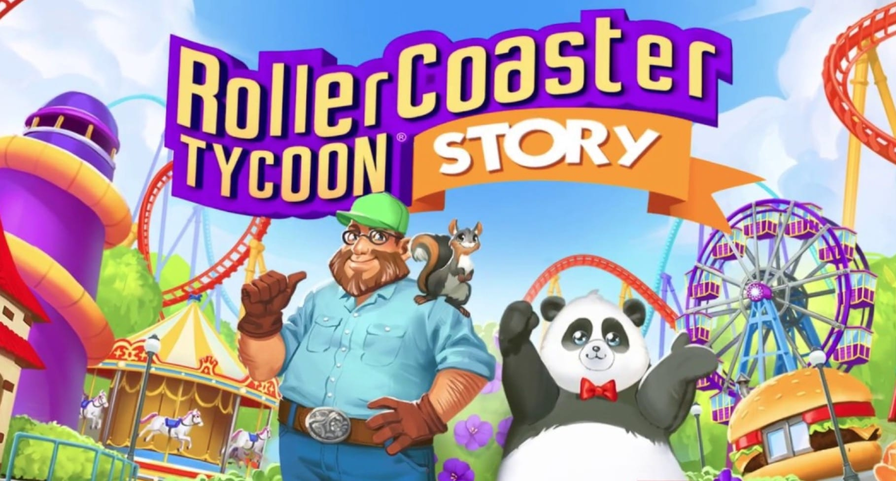 rollercoaster tycoon story, mobile game, atari