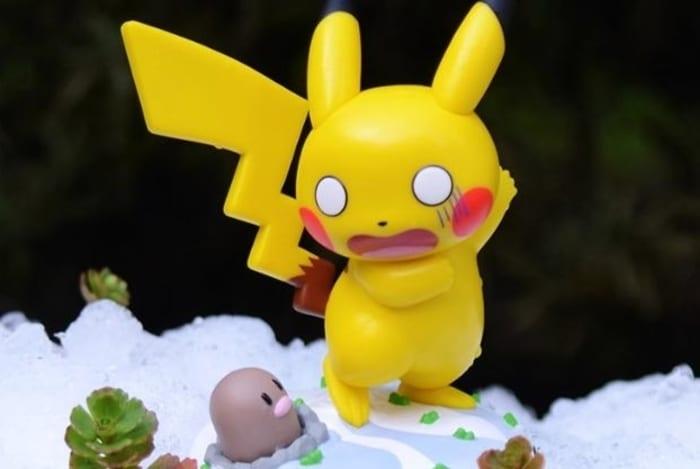 pokemon, pikachu and diglett funko figure for sale