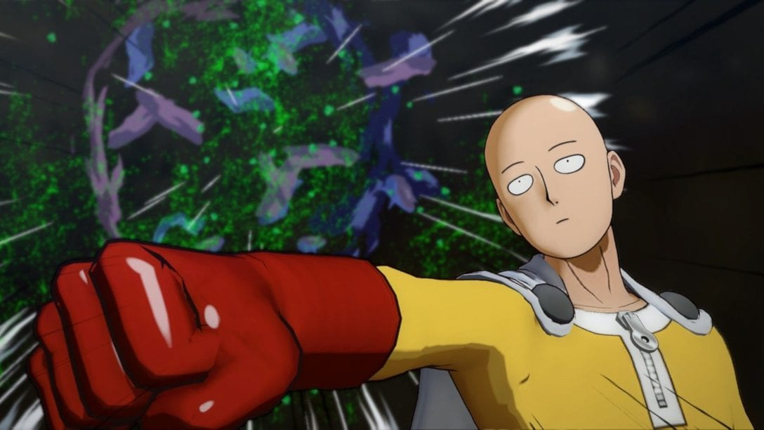 one punch man, shopping area