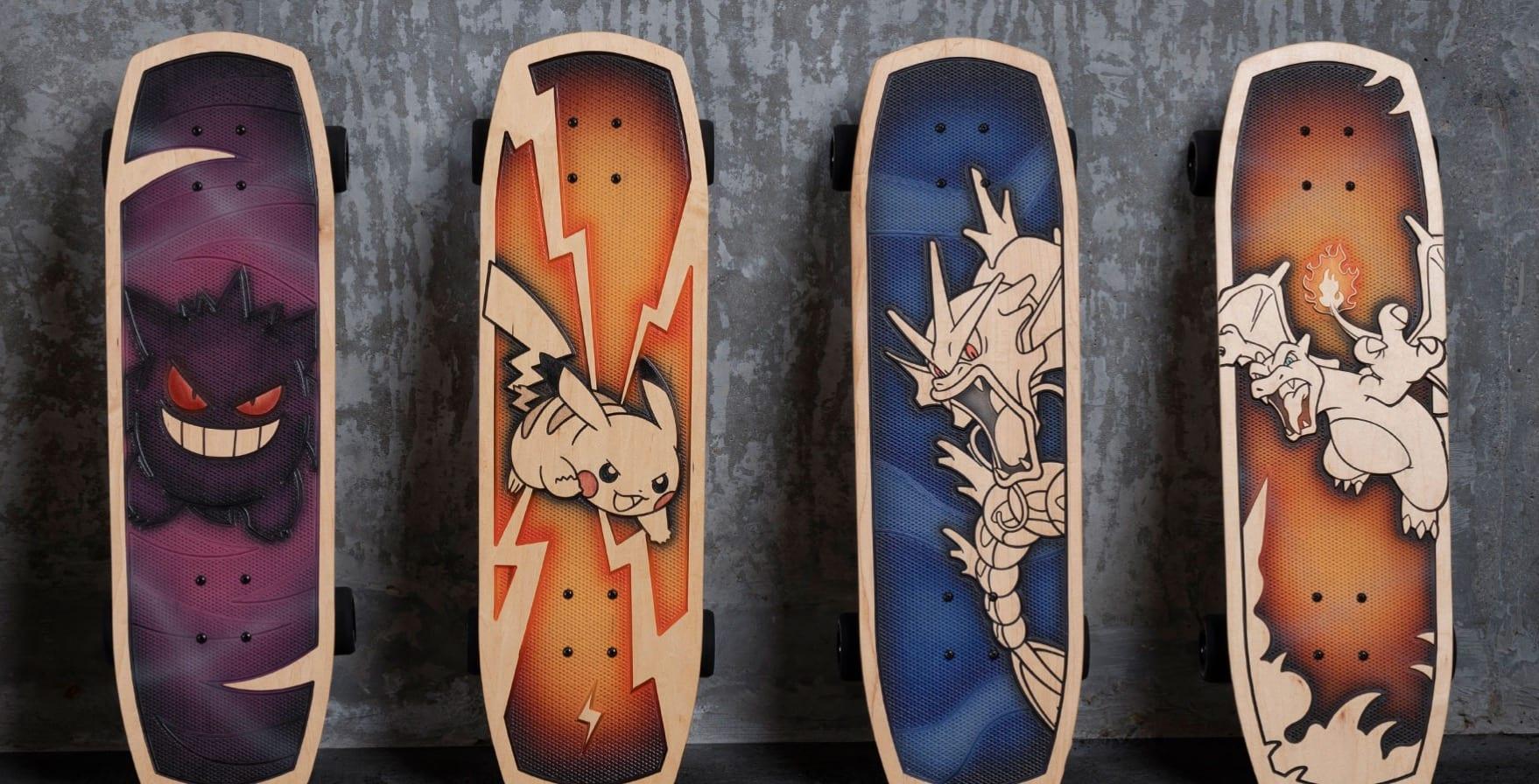 pokemon skateboards, bear walker, pokemon center
