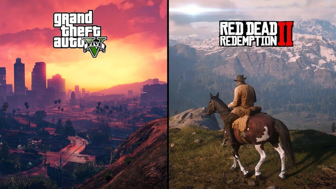 GTA V, Red Dead Redemption 2