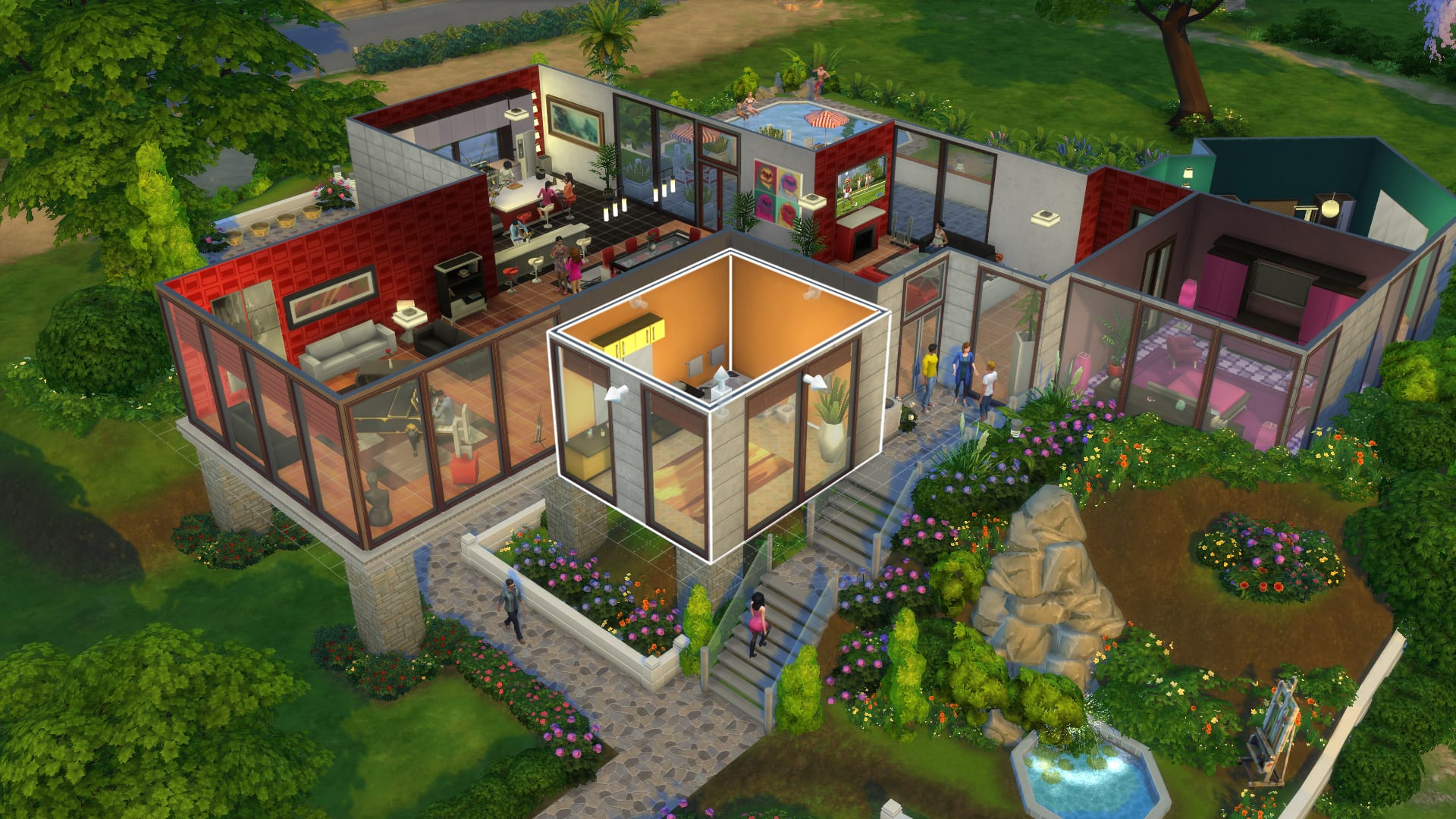 sims 4, more columns in cas