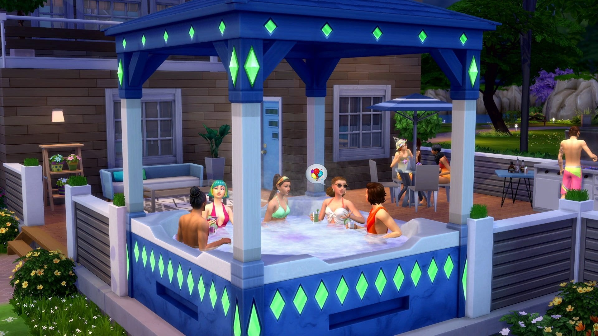 sims 4 ps4 xbox one hot tub