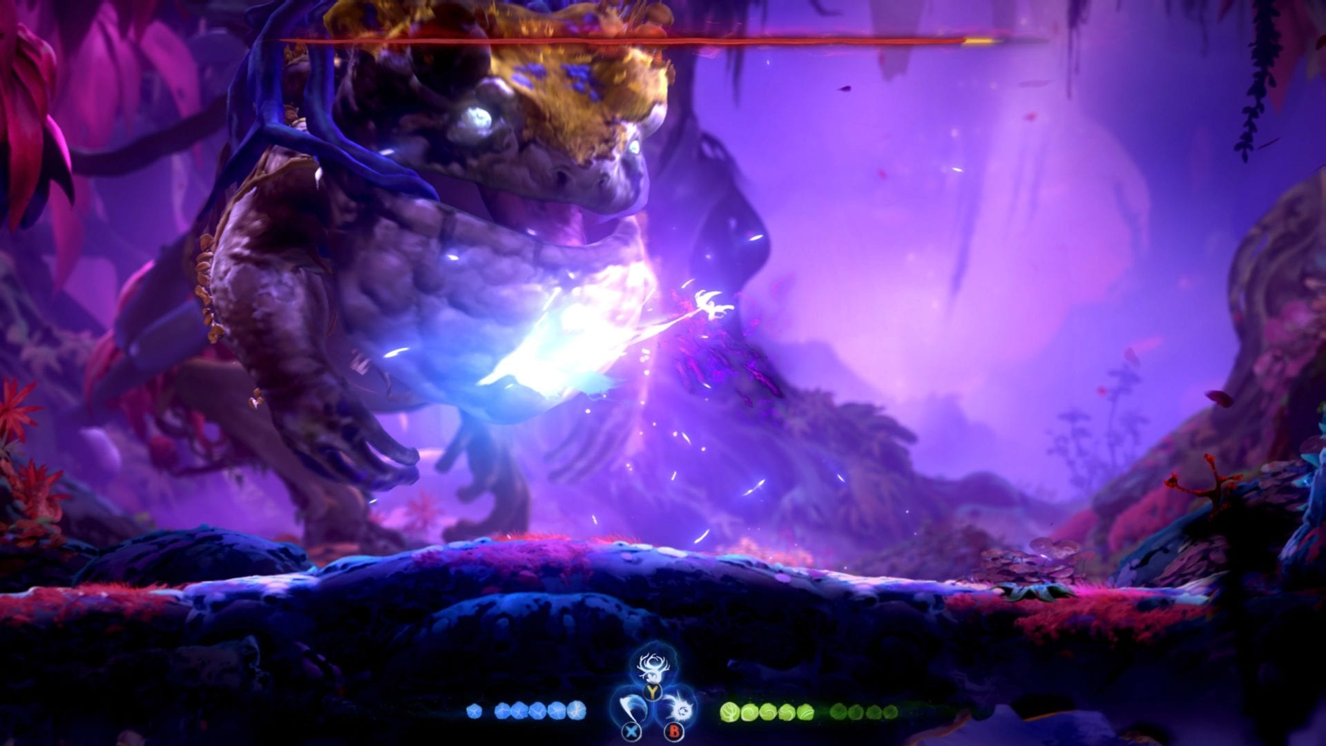 Ori and the Will of the Wisps kwolok boss fight