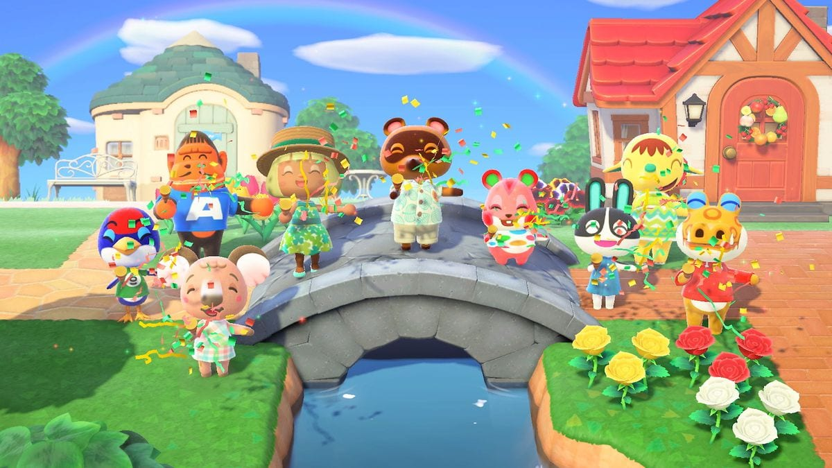 animal crossing new horizons, decorate with flowers