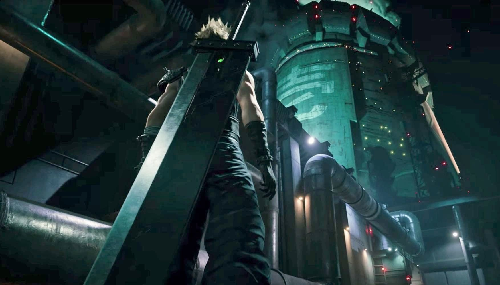 Opening the mini map in Final Fantasy VII Remake