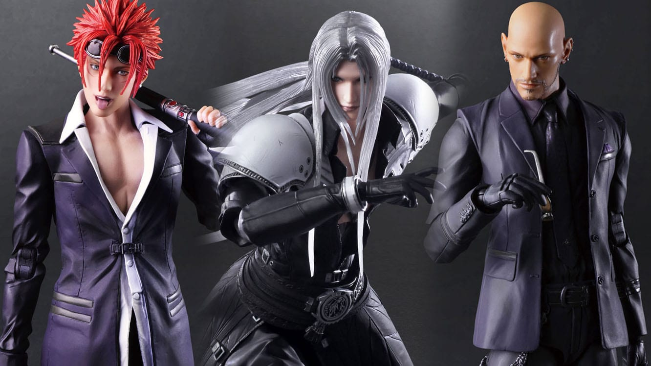 Final Fantasy Vii Remake Getting More Play Arts Kai Figures For Sephiroth Reno And Rude