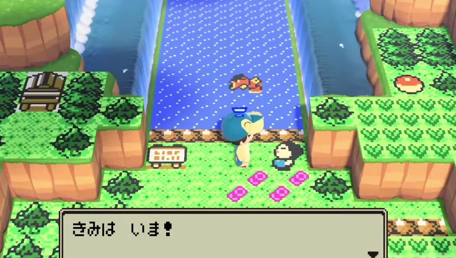 animal crossing new horizons pokemon johto region, gold and silver, crystal recreation