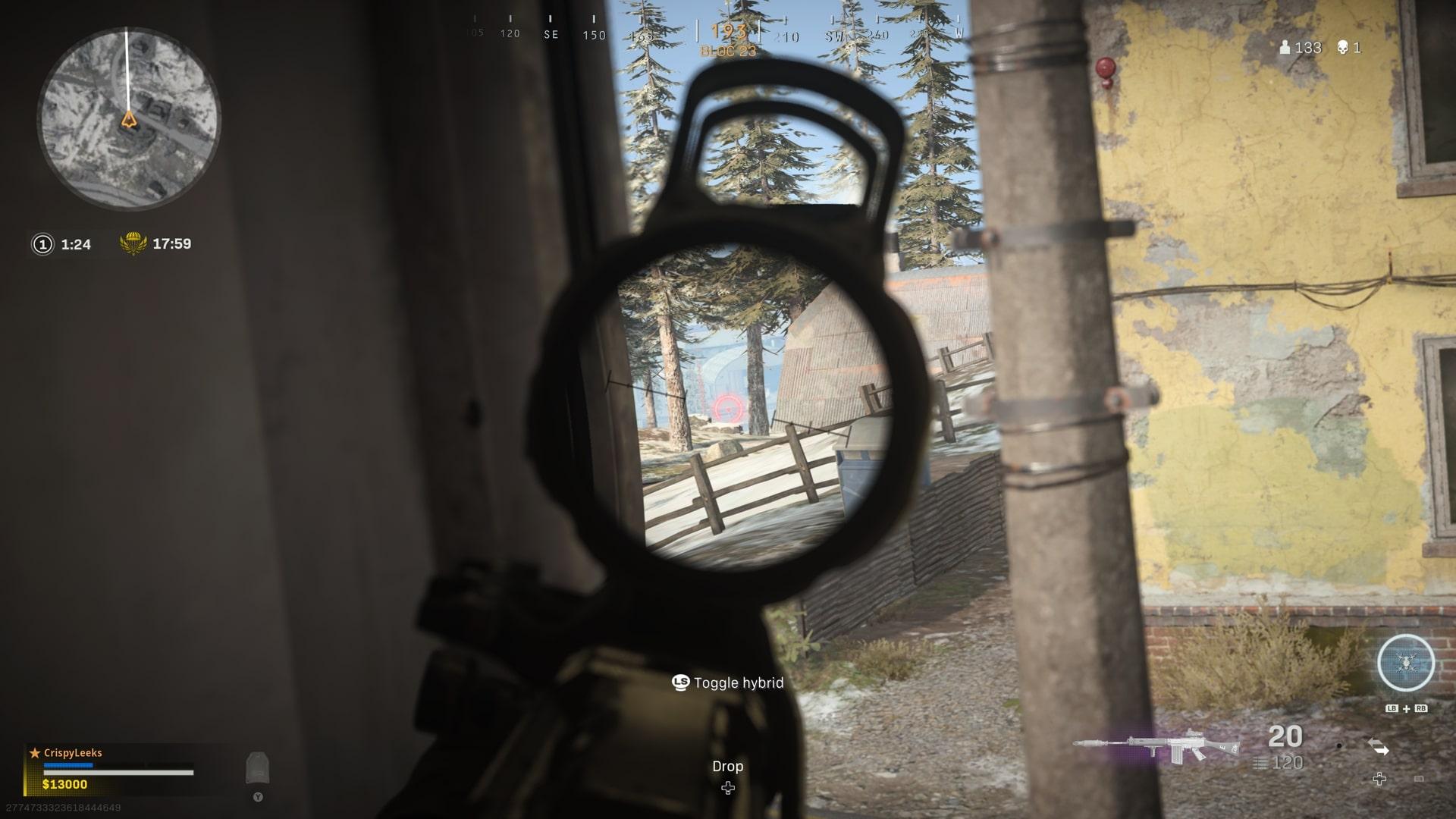 lean around the war zone corners