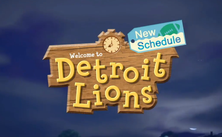 Detroit lions, animal crossing