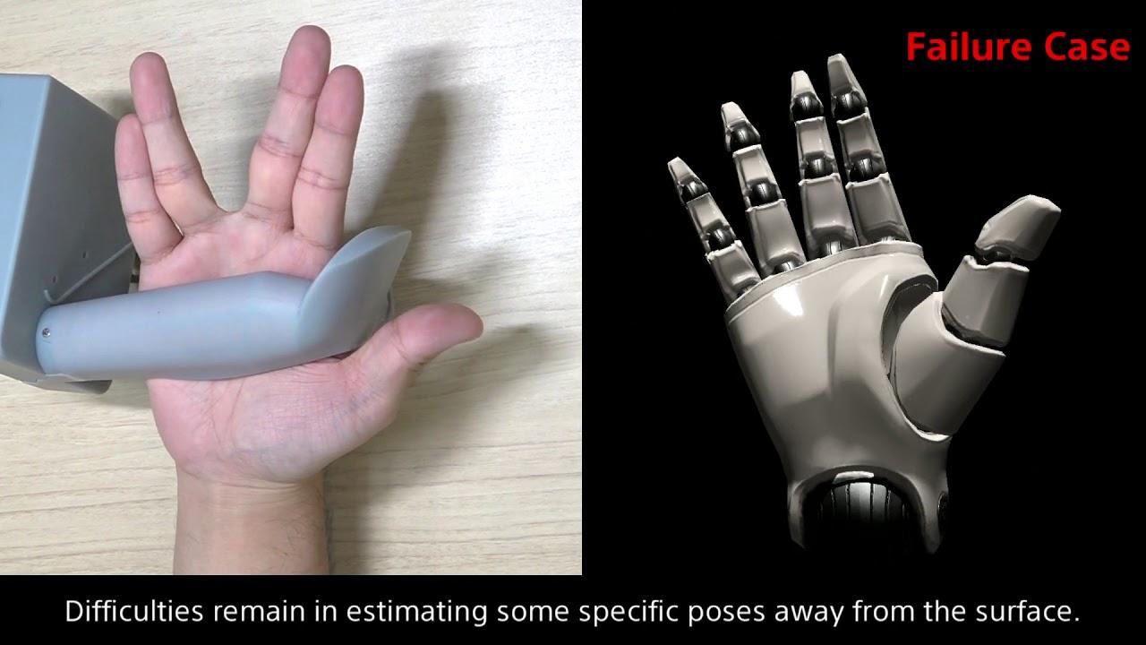 VR, Sony, finger tracking