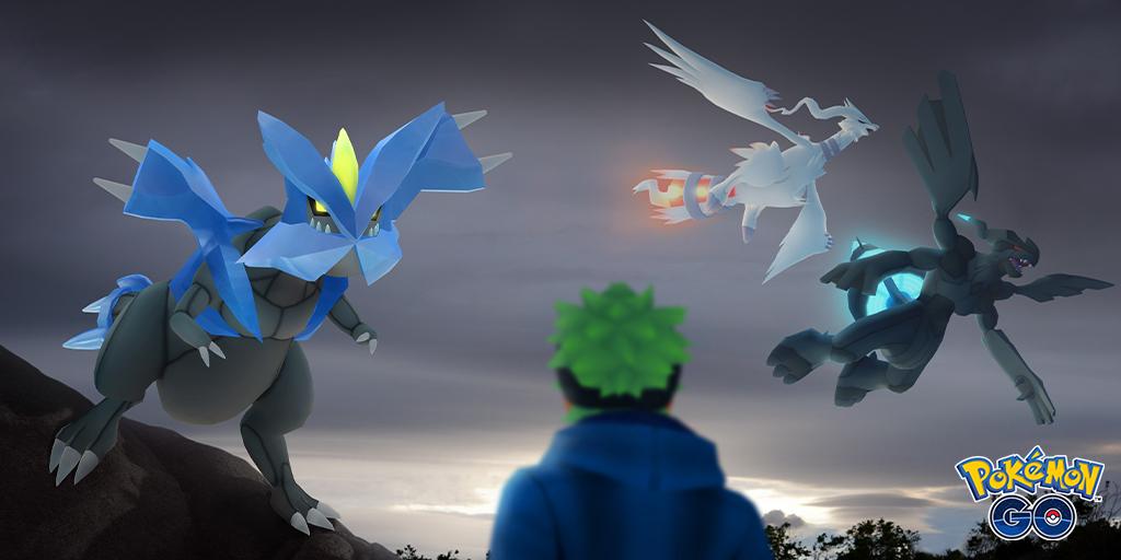 reshiram pokemon go, zekrom pokemon go, kyurem pokemon go, tao trio pokemon go