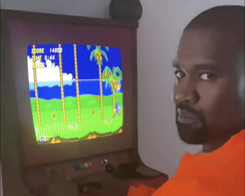 Kanye West playing Sonic 2