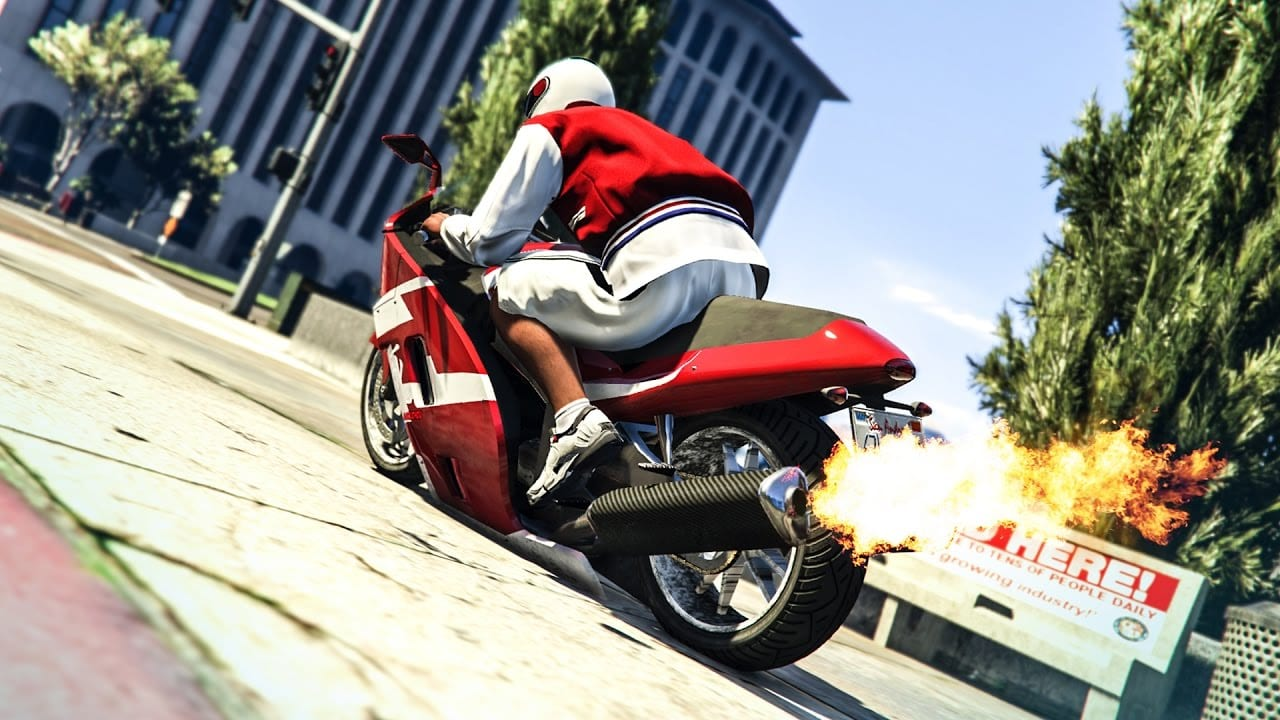wheelie in gta v