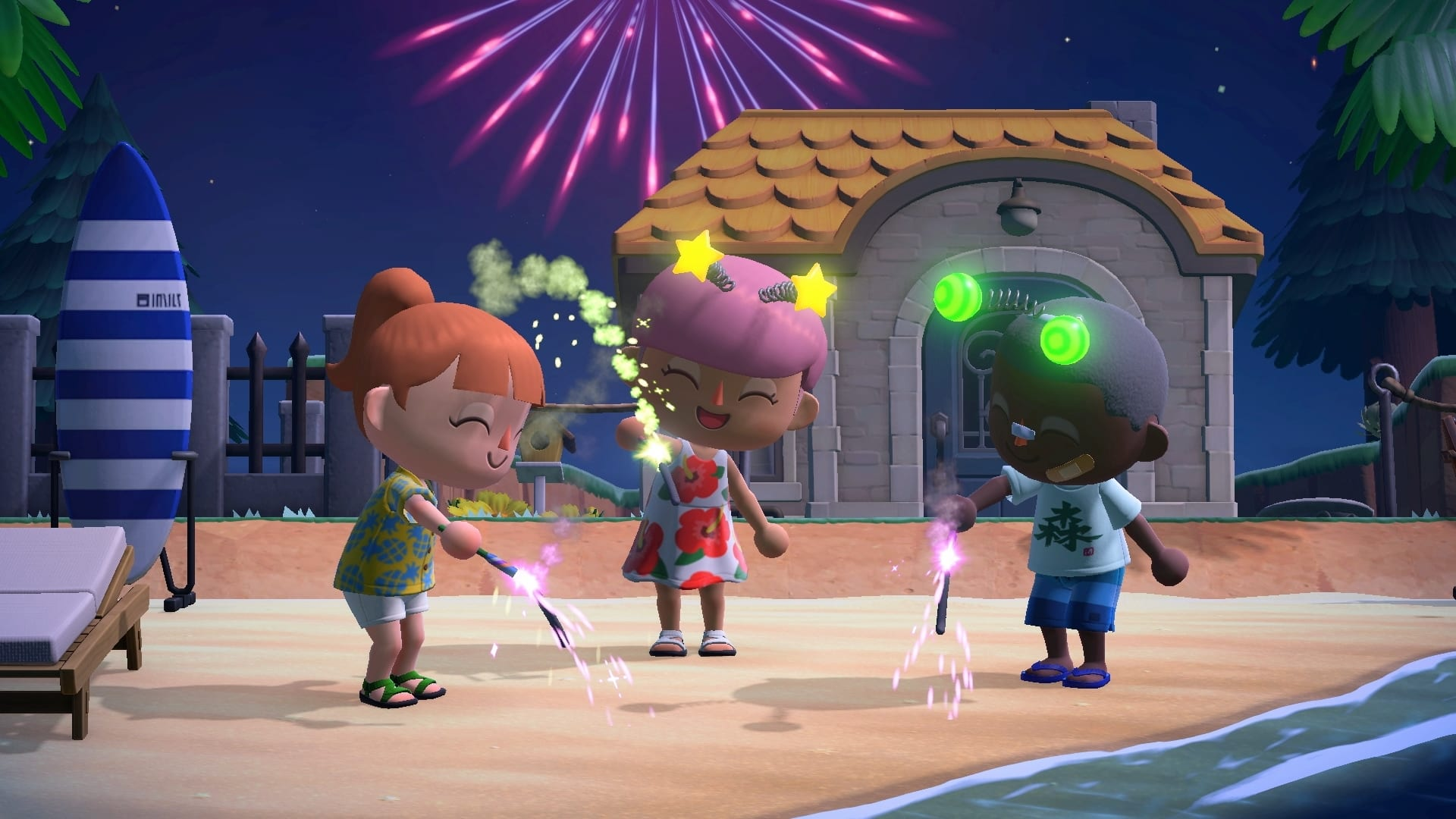 animal crossing new horizons, custom fireworks