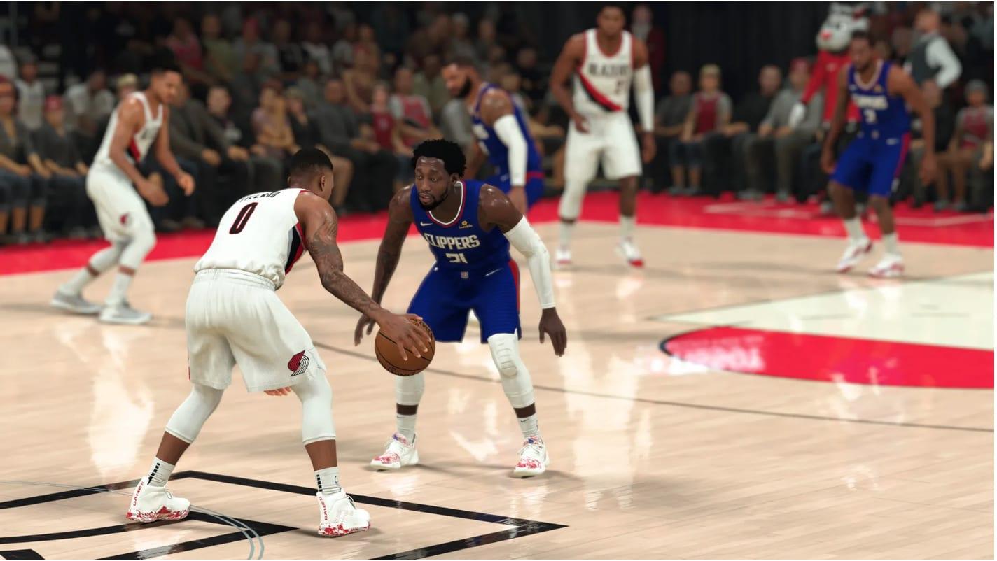 NBA 2K21 fake pass