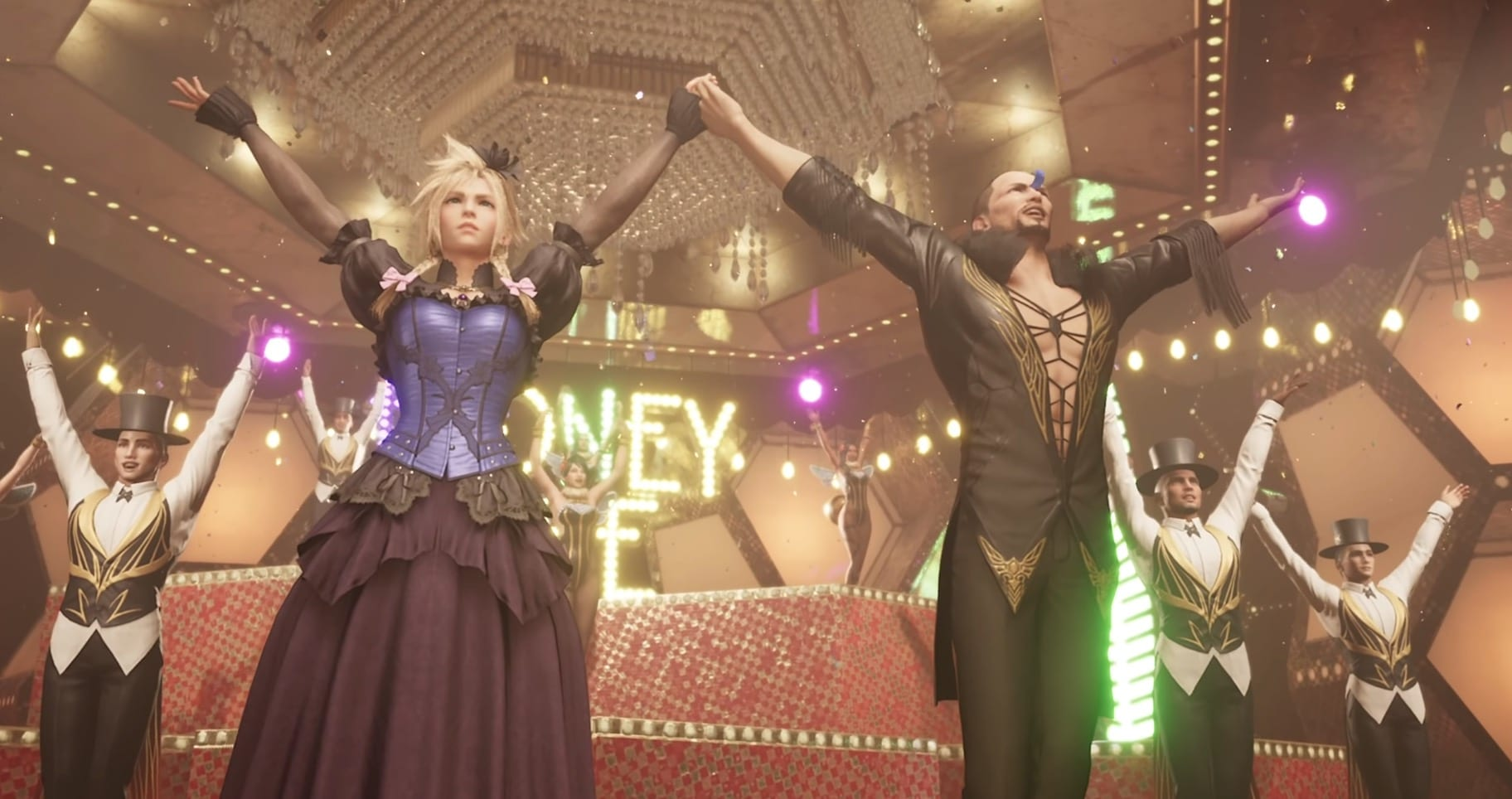 video games, final fantasy vii remake, dancing