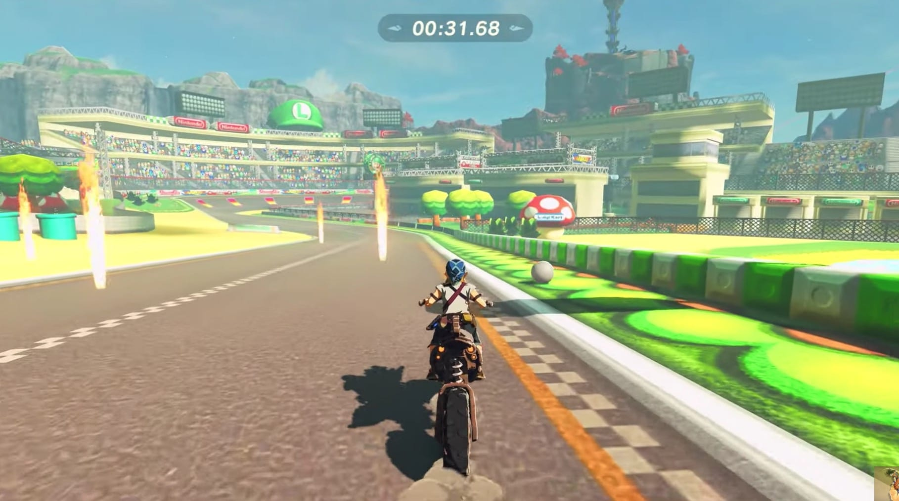 zelda breath of the wild mod, mario kart, luigi