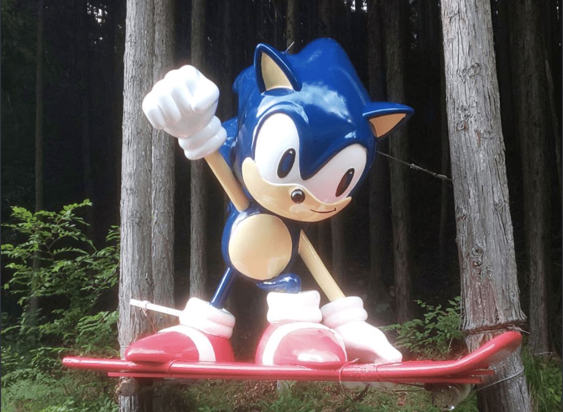 Sonic the Hedgehog, Sonic the Hedgehog statue in Japan restored