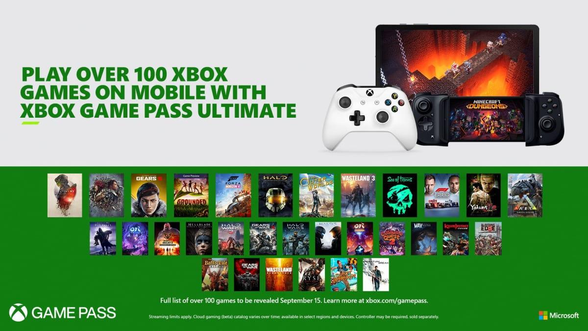 xbox game pass, xcloud