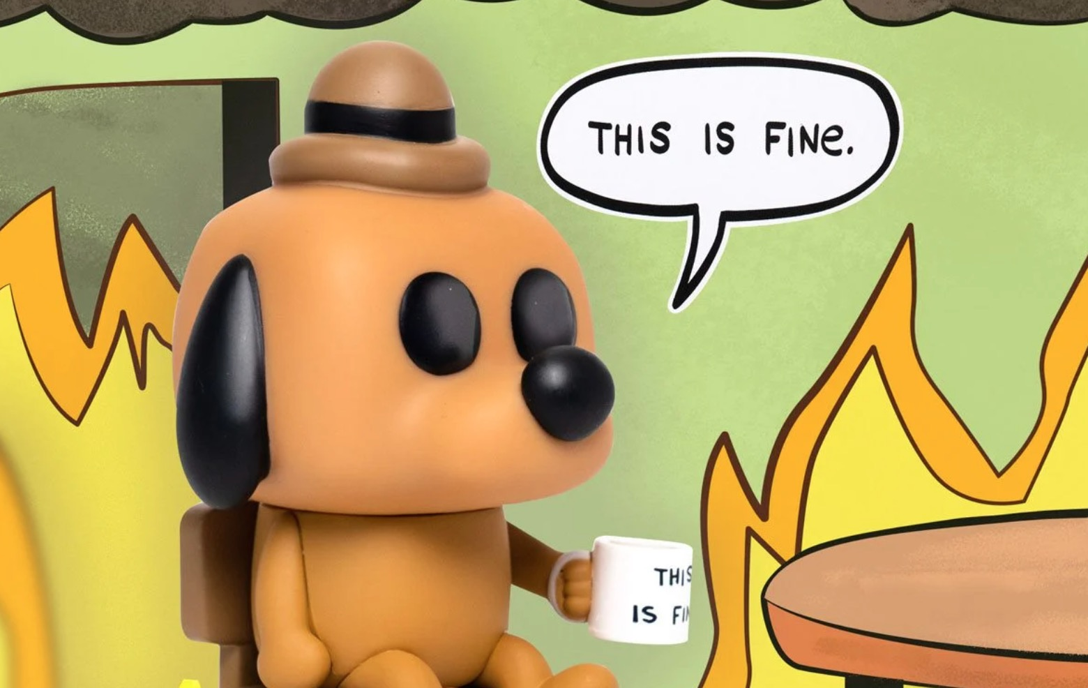 this is fine dog funko pop figure