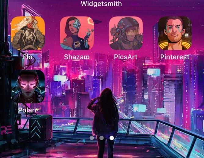 ios home screens video game cyberpunk