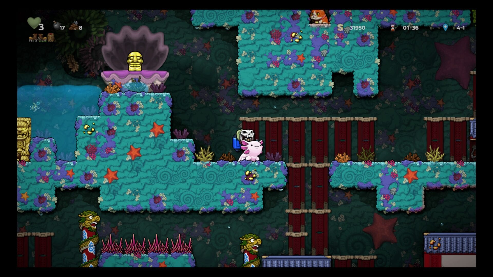 Spelunky 2, How to Get an Axolotl and What They Do