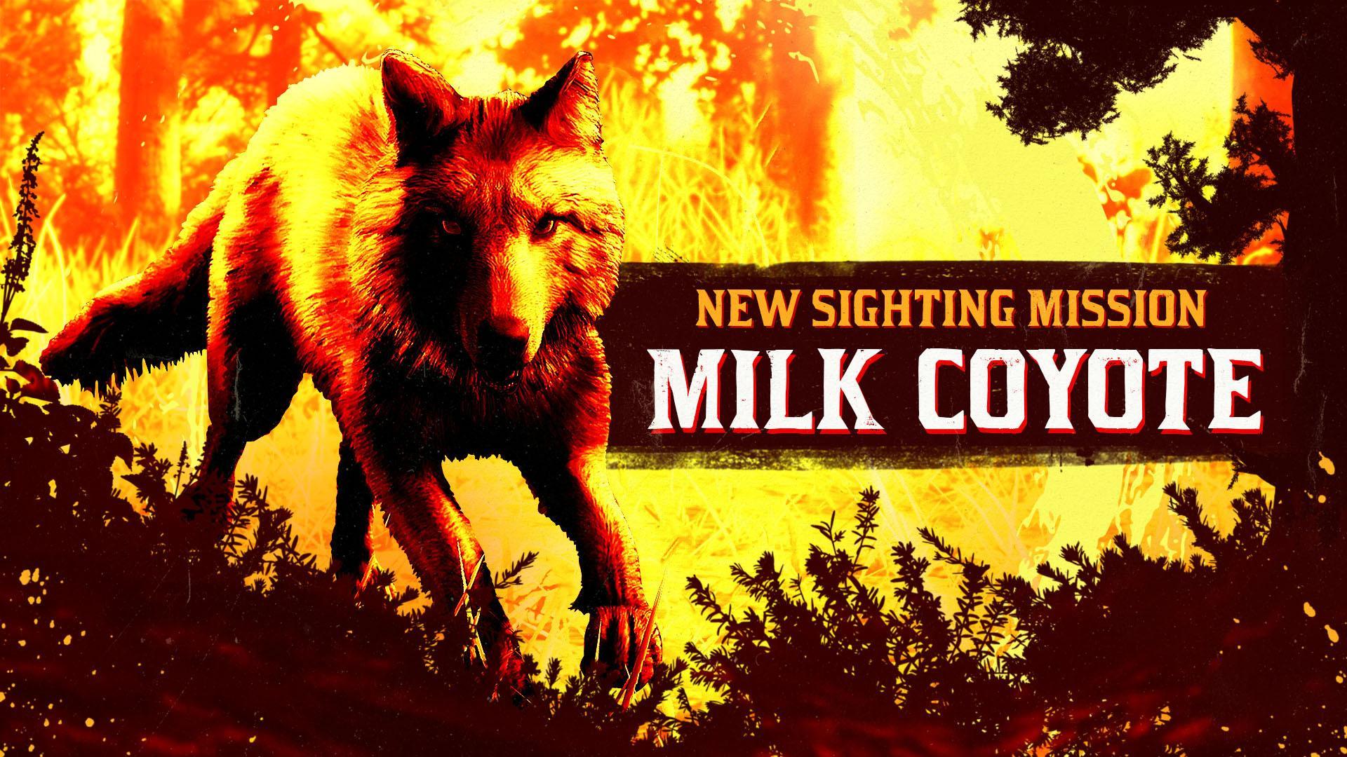 Red Dead Online Adds new Milk Coyote Sighting Target