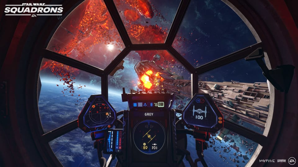 third-person view star wars squadrons