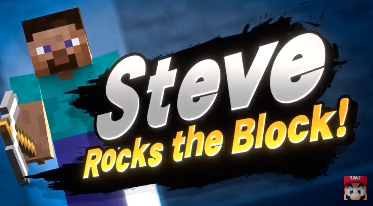 minecraft steve, super smash bros ultimate reveal