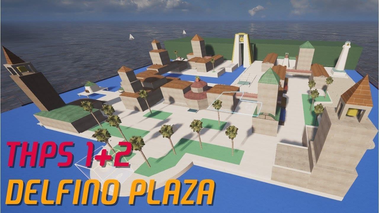 tony hawk's pro skater, super mario sunshine, delfino plaza