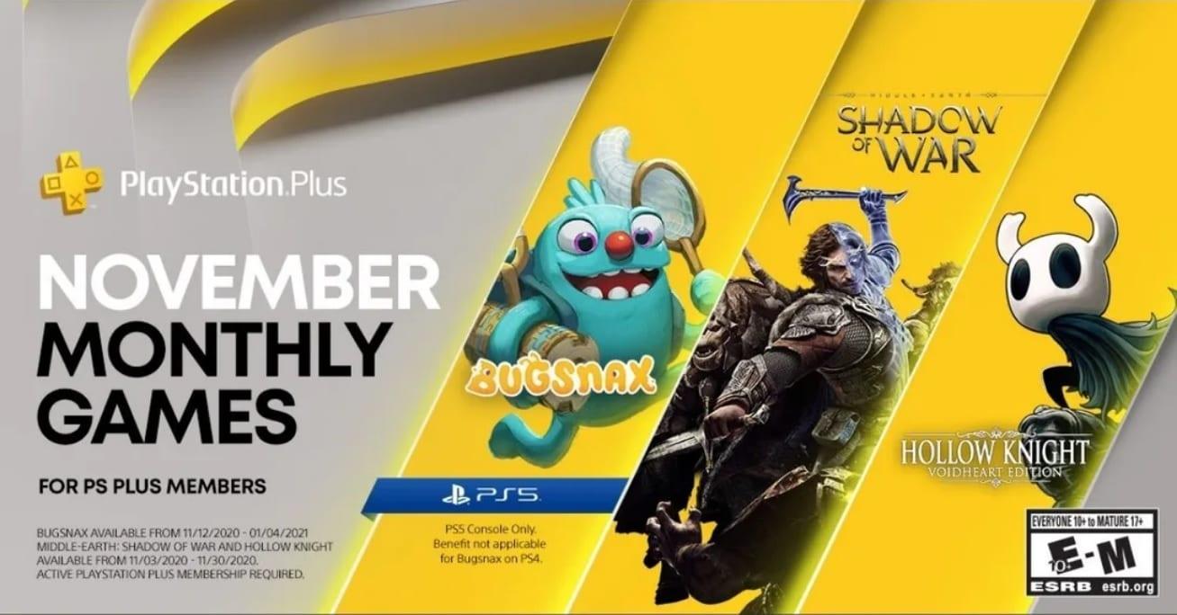 PS5, PS Plus, November