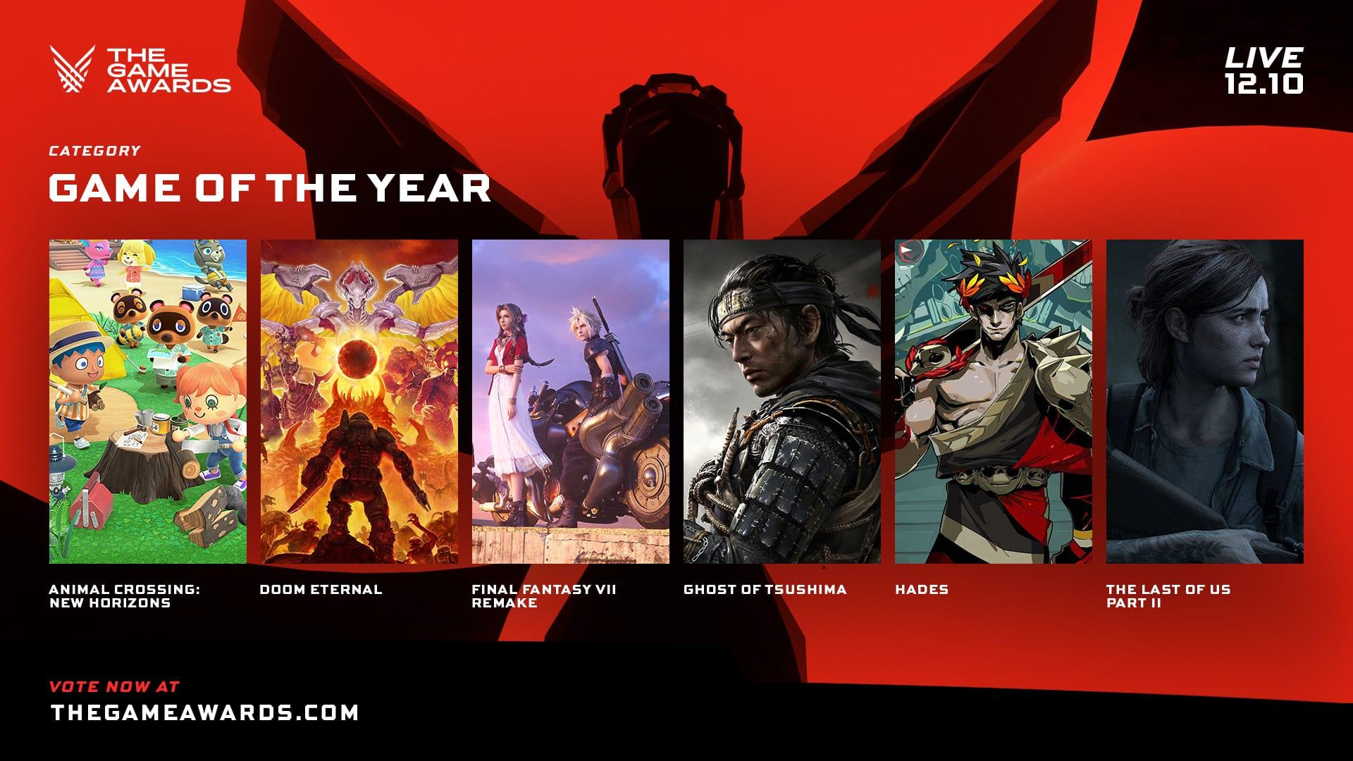 The Game Awards, GOTY