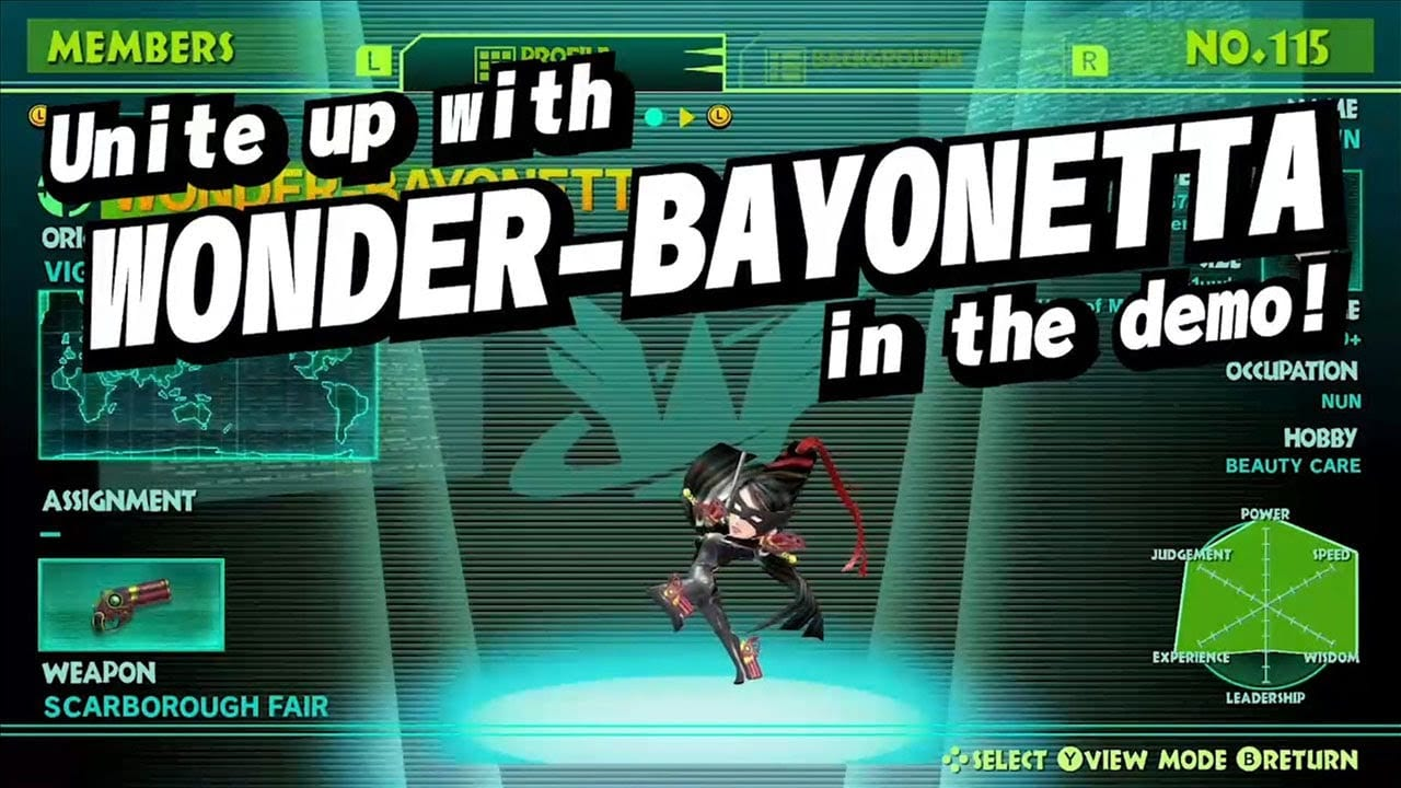 Wonderful 101 Bayonetta