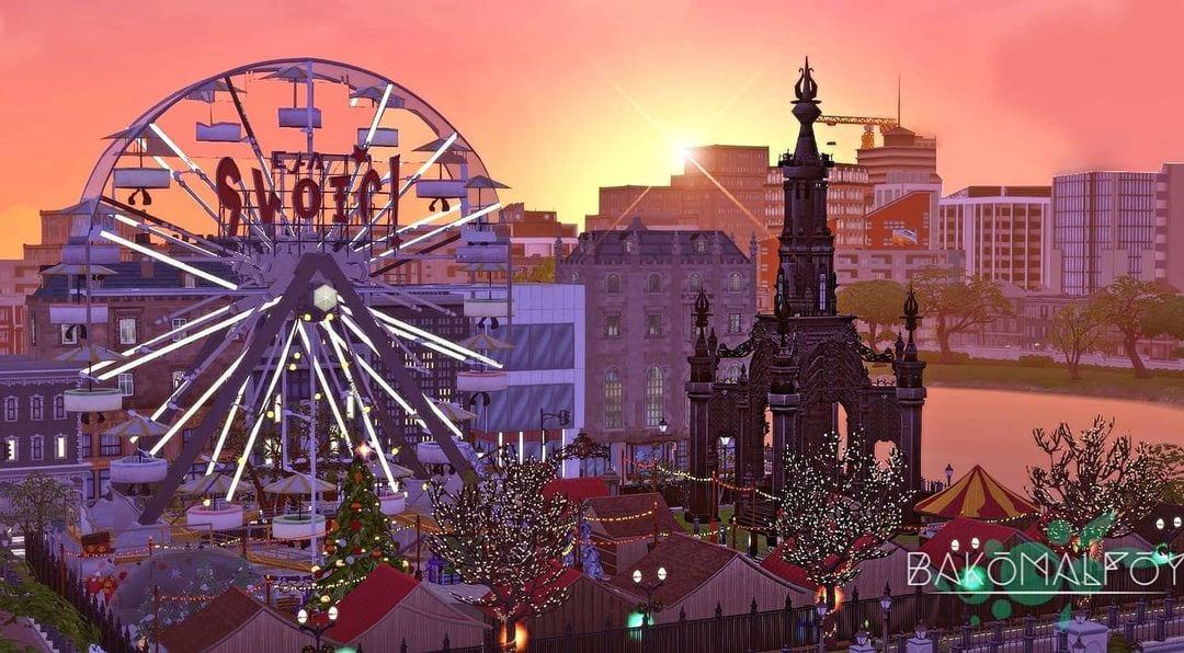 Sims Christmas Market