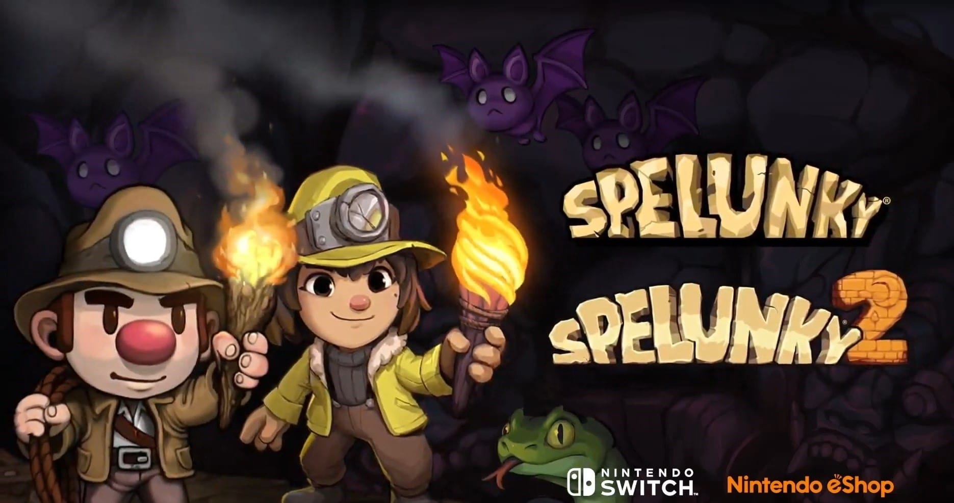 Spelunky 1 and 2 on switch