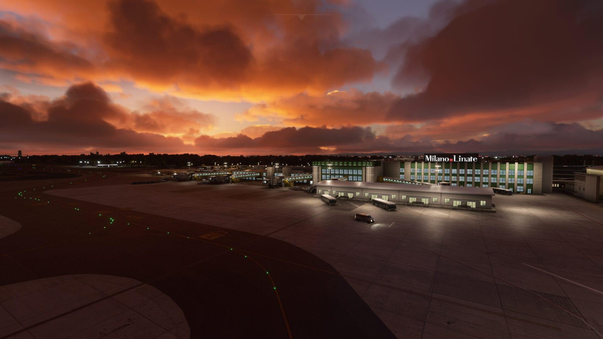 Microsoft Flight Simulator Milano Linate
