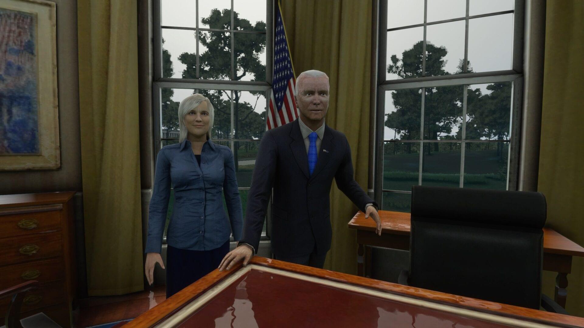 Micrfosoft Flight Simulator Joe Biden