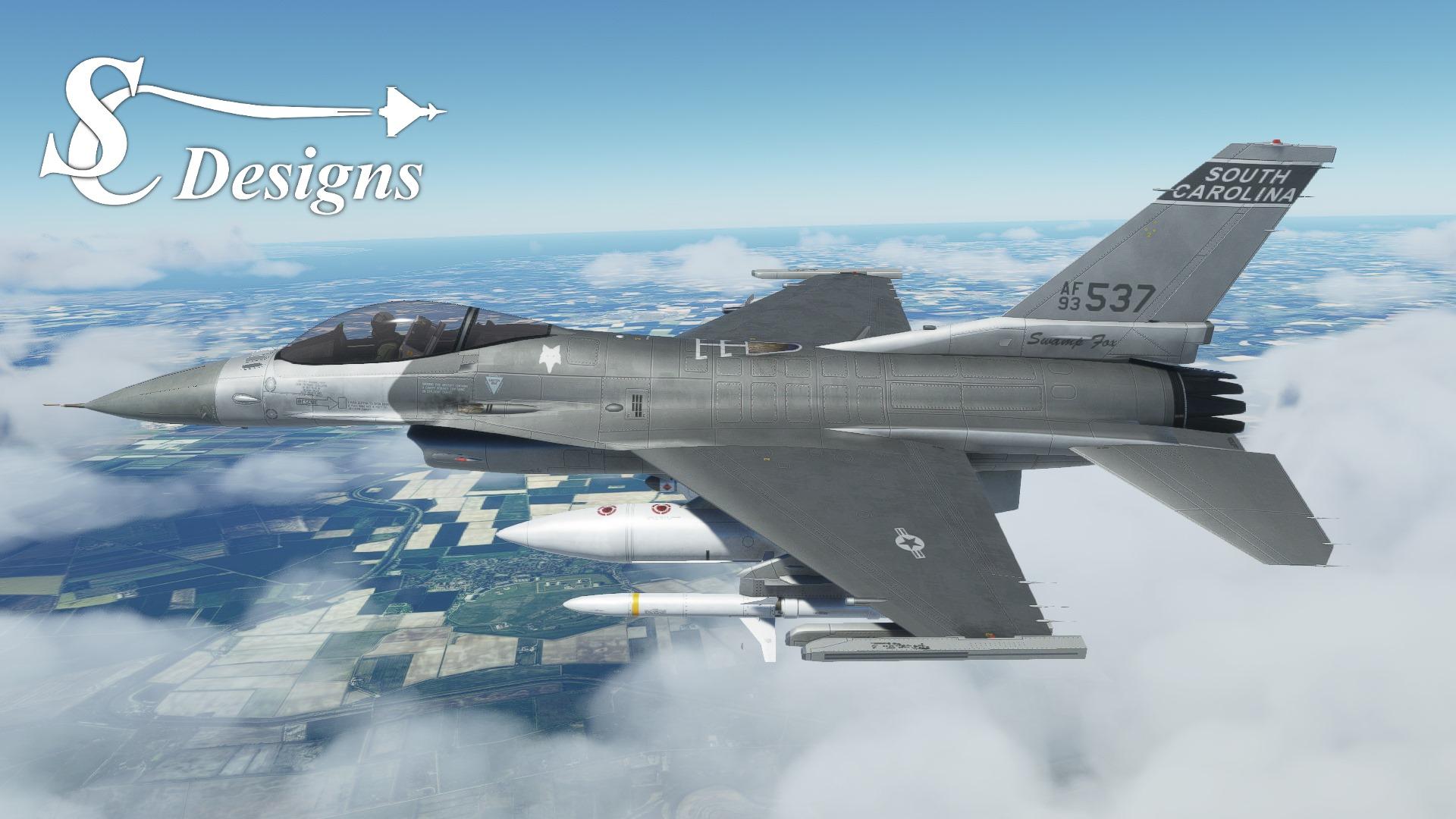 Microsoft Flight Simulator F16 Falcon