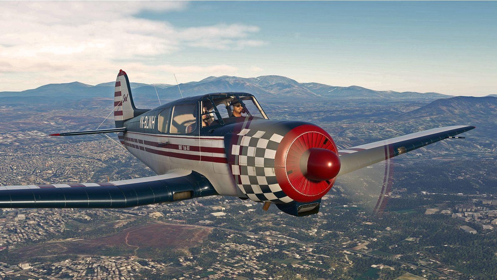 Microsoft Flight Simulator Yak18t