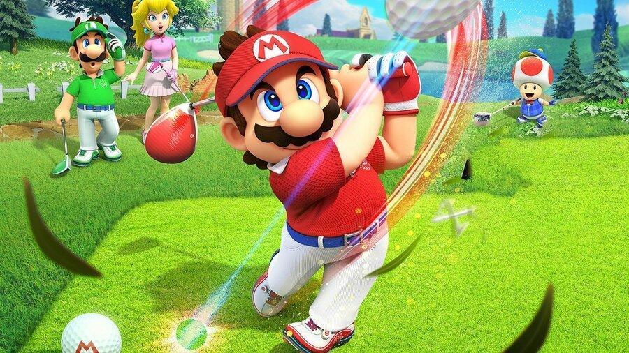 mario golf super rush backspin, mario golf super rush topspin